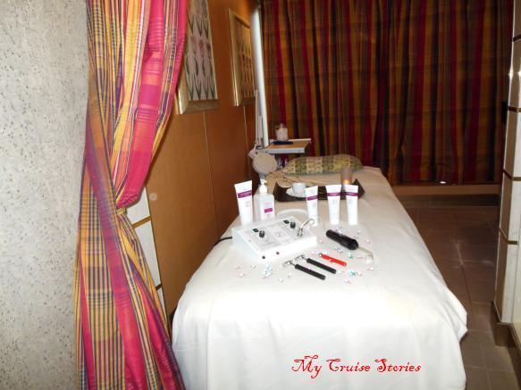 spa treatment room on Holland America Westerdam