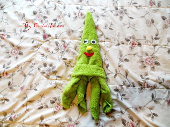 decorating a squid towel animal