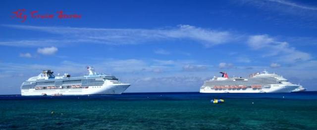 cruise ships at anchor
