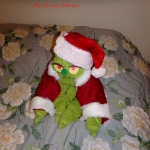 Christmas towel grinch