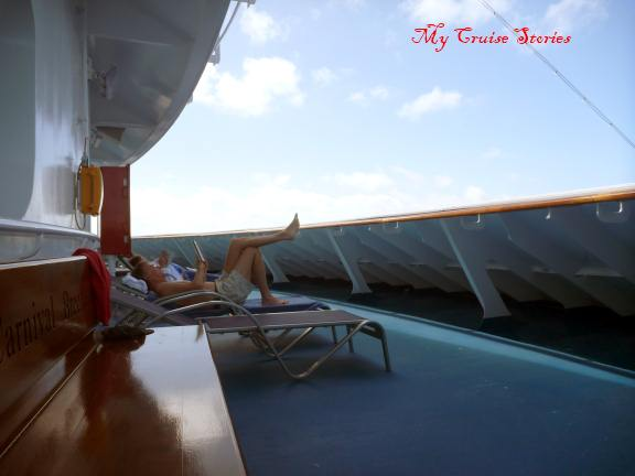 where to find peace and quiet on a cruise