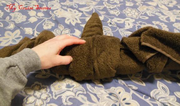 how to make a towel bird body