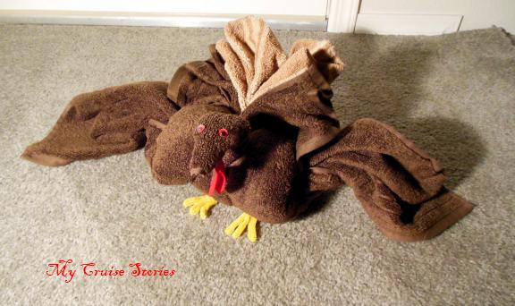 Towel art - folding a towel turkey