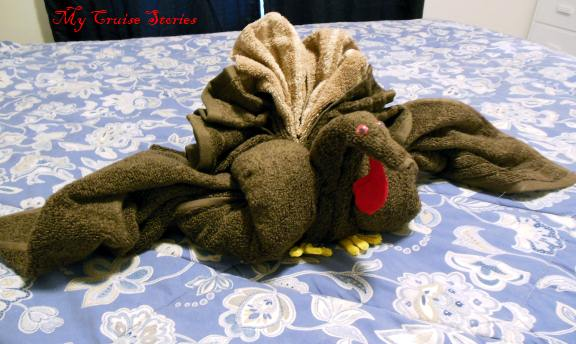 How to fold a towel turkey