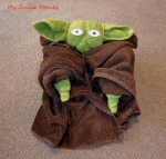 how to fold towel Yoda