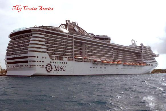rear view of cruise ship