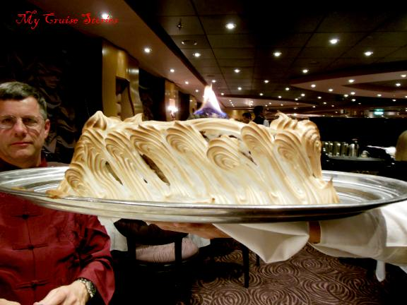 Baked Alaska on MSC Divina