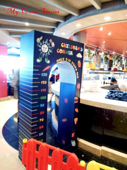 Kid's corner at the Divina buffet