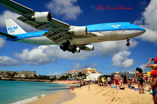 airplane beach in Saint Martin