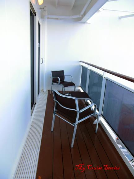 double size cruise ship veranda
