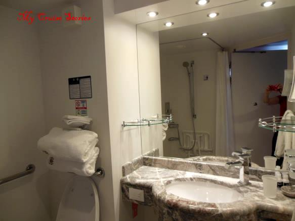MSC Divina Deluxe Yacht Club suite disabled accessible bathroom