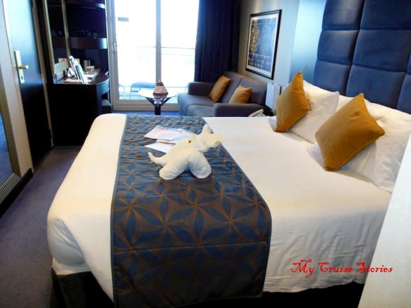 Accommodations on the MSC Divina - balcony cabin