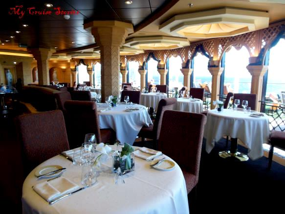 exclusive dining on a cruise ship