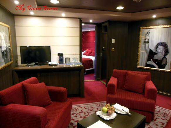 large cruise ship suite