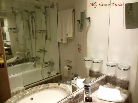 MSC Divina suite bathroom with bathtub