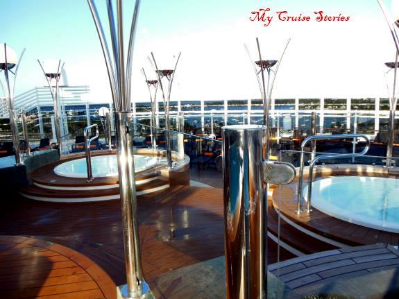 cruise ship private area exclusive hot tubs for suite guests only