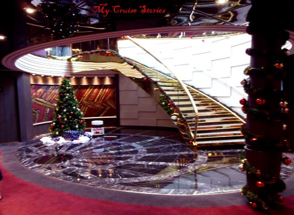 exclusive area of cruise ship reserved for suite guests