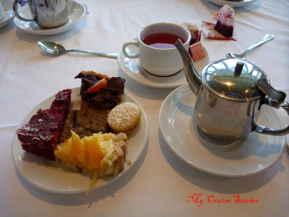 afternoon tea on a cruise ship