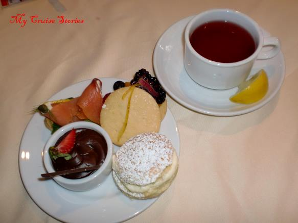 small but tasty sweets at afternoon tea
