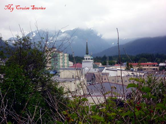 view of Sitka from near the graveyard