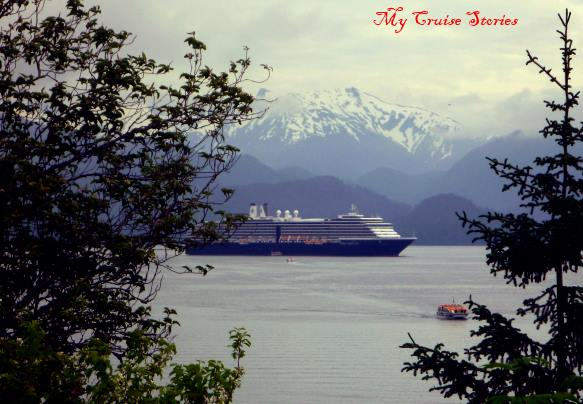 ships in Sitka anchor a distance from shore