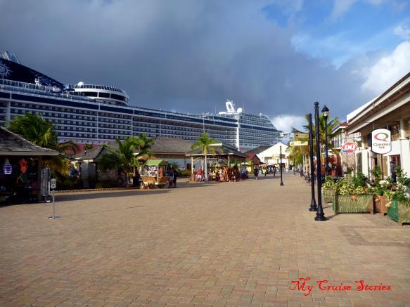 cruise ship at Falmouth dock