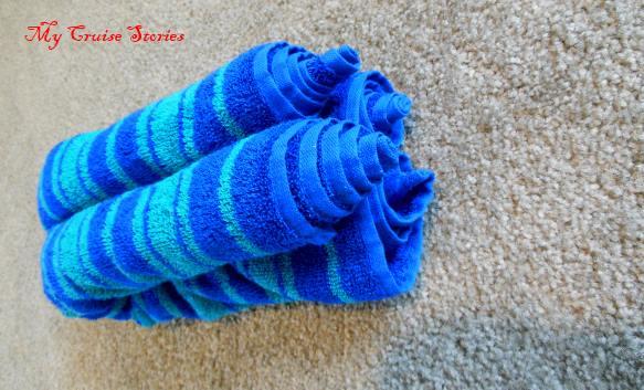 folding the standard towel animal body