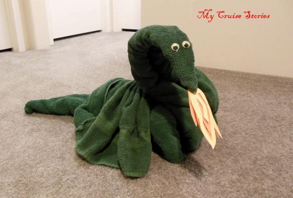 fire breathing towel dragon
