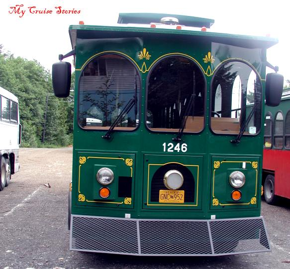 trolley in Ketchikan