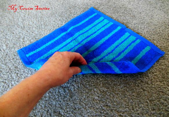 how to fold a washcloth lobster claw