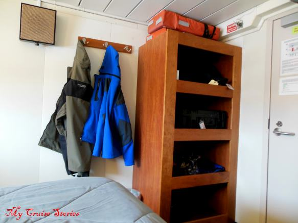 cruise ship cabin storage