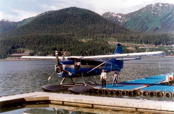 float plane in Alaska