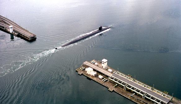 navy sub at hood canal bridge