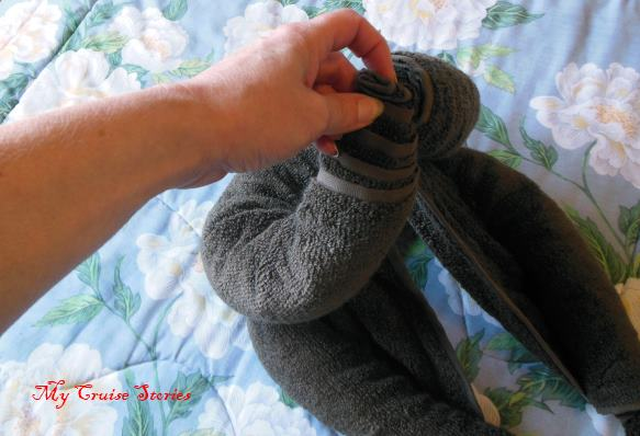 directions on towel animal folding