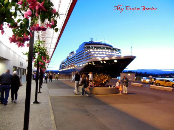 cruise ship docked in Victoria