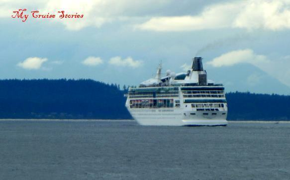 cruise ship in Puget Sound