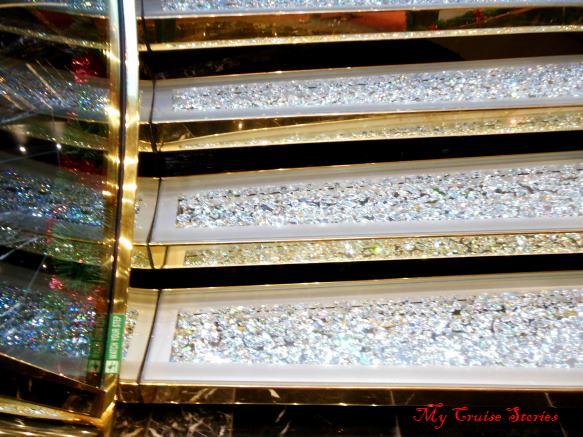 MSC swarovski crystal stairs