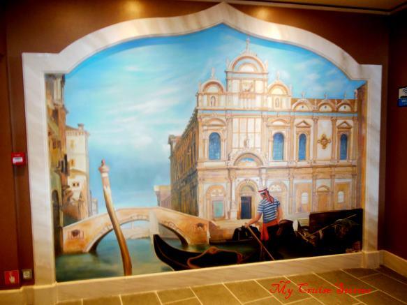 cruise ship mural