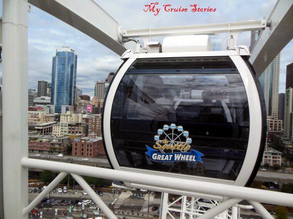 riding Seattle's waterfront ferris wheel