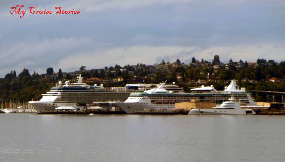 cruise ships docked in Seattle