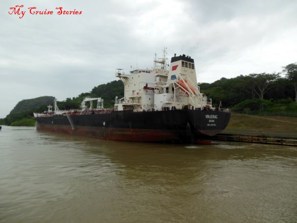 boat in the Panama Canal