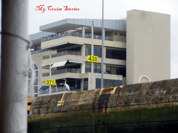 locks viewing building at Panama Canal