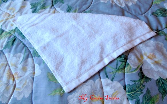 how to fold a washcloth into a unicorn tail