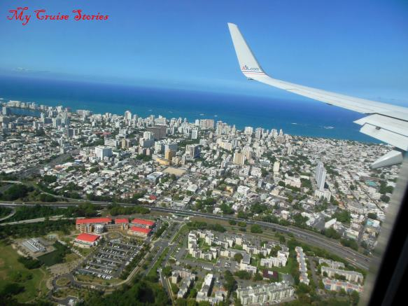 flying over San Juan