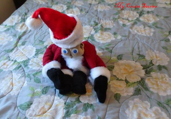 how to make Santa Claus from towels