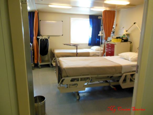 hospital room on a cruise ship
