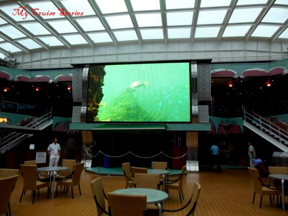 Carnival Splendor movie screen