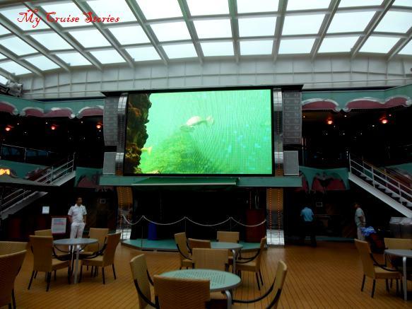 Carnival Splendor movie screen