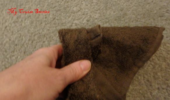 how to fold a washcloth mouse