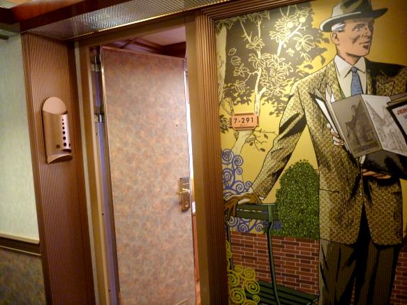 cruise ship hallway art